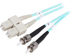 Coboc CY-OM3-ST/SC-1 3.28 ft. 10Gb Aqua Multimode 50/125 Duplex LSZH Fiber Patch Cable ST - SC,M-M