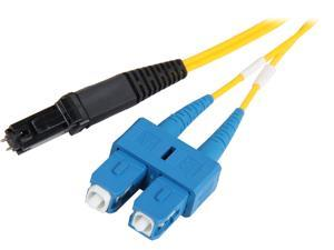 Coboc CY-OS1-MTRJ/SC-2 6.56 ft. Yellow Singlemode 9/125 Duplex LSZH Fiber Patch Cable MTRJ (Male) - SC,M-M