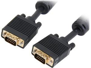 Coboc Model EA-CL2-VGA-35-BK 35 ft. Black Color Premium CL2 Rated 28AWG SVGA/VGA HD15 cable,Gold Plated,w/ Ferrite Cores,M-M