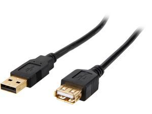 Coboc CL-U2-AAMF-6-BK 6ft High Speed USB 2.0 A Male to A Female Extension Cable,Gold Plated,Black