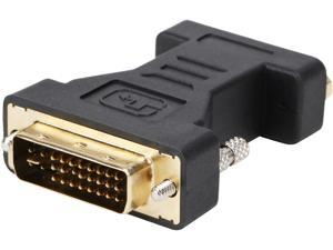 Coboc EA-AD-DVI2VGA-MF Black Color Dual Link DVI-I(24+5) Male to VGA Female Analog Video Adapter,Gold Plated,M-F