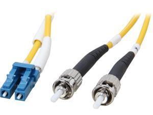 Coboc CY-OS1-LC/ST-5 16.4 ft. Yellow Singlemode 9/125 Duplex LSZH Fiber Patch Cable LC - ST,M-M