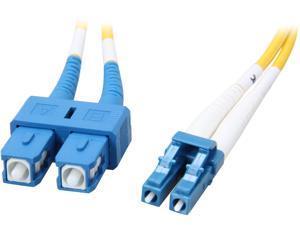 Coboc CY-OS1-LC/SC-1 3.28 ft. Yellow Singlemode 9/125 Duplex LSZH Fiber Patch Cable LC - SC,M-M