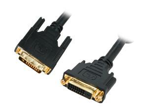 Kaybles DVI-DD-6MF Black 6 ft. Male to Female Premium DVI Digital Dual-Link Extension Cable with Ferrites M/F