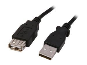 Nippon Labs Black 6 ft. USB cable A/Male to A/Female extension USB 6ft cable Model USB-6-MF-BK 6 feet