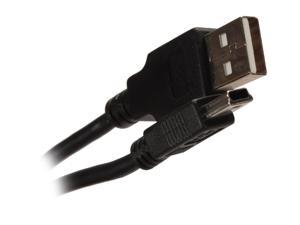 Nippon Labs MINIUSB-10 10 ft. USB 2.0 Type A Male to USB Type B Adapter Male Cable, Black
