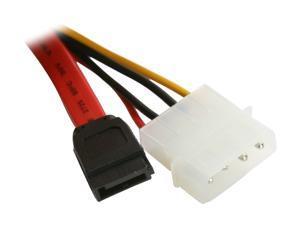Nippon Labs SATA-0.5-COMBO SATA 15 Pin Female to SATA 7 Pin and Molex 4 Pin Adapter Cable