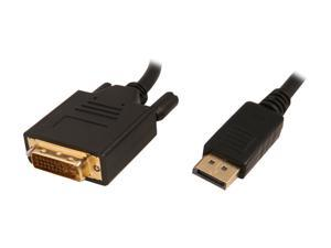 Nippon Labs DP-DVI-6 6 ft. DP DisplayPort Male to DVI-D Male Adapter Cable, Black