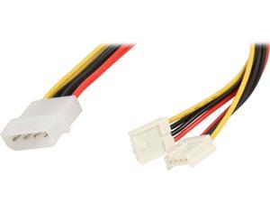 "Nippon Labs POW-02208 8"" 1 x Molex 5.25 Male to 2 x 3.5 Female Power Supply Adapter Y Cable Spliter"