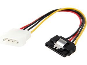 "Nippon Labs SATA-15PF-4PMM 8"" SATA 15pin Female w/ Latch to Molex 4pin Male Power Adapter Multi-Color"