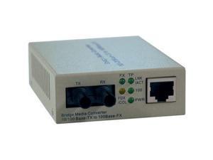 Tripp Lite Fiber Optic - 10/100BaseT to 100BaseFX-ST Multimode Media Converter, 2km, 1310nm (N784-001-ST)