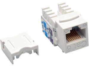 Tripp Lite Cat6/Cat5e 110 Style Punch Down Keystone Jack, White, 25-Pack, TAA (N238-025-WH)