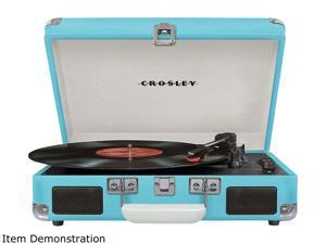 Crosley CR8005DTU Cruiser Deluxe Turntable - Turquoise CR8005D-TU