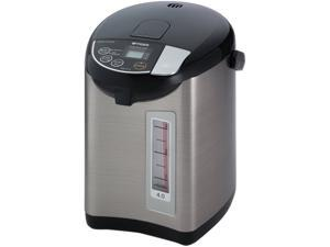 Tiger PDU-A40U-K Electric Water Boiler and Warmer, Stainless Black, 4.0-Liter Made in Japan