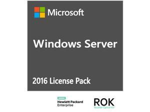 HPE ROK License - MS Server 2016 - 1 user CAL