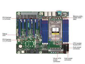 Asrock Rack Server Motherboard EPYCD8-2T EPYC 7000 Series DDR4 M.2 10G LAN