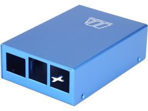 Micro Connectors RAS-PCS03-BL Aluminum Raspberry Pi 3 Model B/B+ Case (Blue)