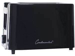Continental Electric 2-Slice Extra Wide Slot Toaster, Black  CE-TT019