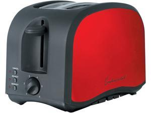 Continental Electric America 2-Slice Metallic Toaster, Black & Red CM43435