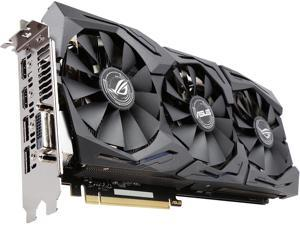 ASUS ROG GeForce GTX 1080 DirectX 12 STRIX-GTX1080-O8G-GAMING 8GB 256-Bit GDDR5X PCI Express 3.0 HDCP Ready SLI Support Video Card