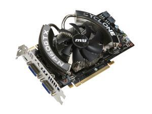 MSI GeForce GTX 460 (Fermi) DirectX 11 N460GTX CYCLONE 1GD5/OC 1GB 256-Bit GDDR5 PCI Express 2.0 x16 HDCP Ready SLI Support Video Card