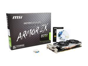 MSI GeForce GTX 970 DirectX 12 GTX 970 4GD5T Titanium OC 4GB 256-Bit GDDR5 PCI Express 3.0 x16 HDCP Ready SLI Support ATX G-SYNC Support Video Card