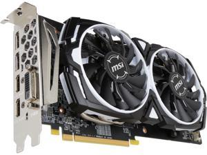 MSI Radeon RX 580 DirectX 12 RX 580 ARMOR 8G OC 8GB 256-Bit GDDR5 PCI Express x16 HDCP Ready CrossFireX Support Video Card