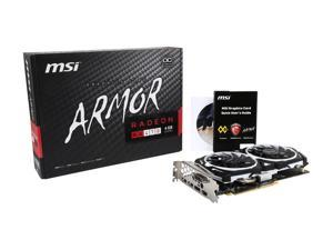 MSI Radeon RX 470 DirectX 12 Radeon RX 470 ARMOR 4G OC-R 4GB 256-Bit GDDR5 PCI Express 3.0 x16 HDCP Ready CrossFireX Support Video Card