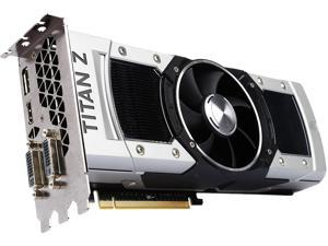 EVGA GeForce GTX TITAN Z DirectX 12 (feature level 11_0) 12G-P4-3990-RX 12GB 768-Bit GDDR5 PCI Express 3.0 SLI Support Video Card
