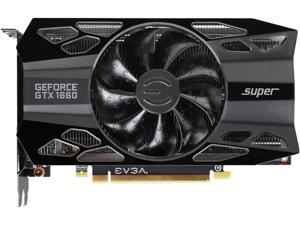 EVGA GeForce GTX 1660 SUPER BLACK GAMING Video Card, 06G-P4-1061-KR, 6GB GDDR6, Single Fan