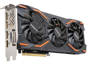 GIGABYTE GeForce GTX 1080 DirectX 12 GV-N1080D5X-8GD 8GB 256-Bit GDDR5X PCI Express 3.0 x16 SLI Support ATX Video Cards