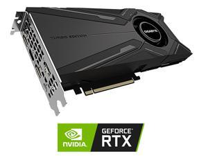 GIGABYTE GeForce RTX 2080 Ti DirectX 12 GV-N208TTURBO OC-11GC V2 11GB 352-Bit GDDR6 PCI Express 3.0 x16 SLI Support ATX Video Card