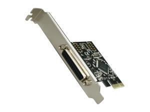 SYBA PCI-Express 1-Port Parallel/Printer Card with Low Profile Bracket - RoHS Model SD-PEX10005