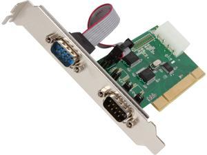 SYBA 2 Serial (RS-232, DB9) Ports PCI Controller Card, Full & Low Profile Brackets, WCH351 Chipset Model SD-PCI15039