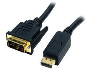 StarTech.com DP2DVI2MM6 DisplayPort To DVI Cable - 6 ft / 2m - Passive - 1080p - DP to DVI Cable - DisplayPort Adapter Cable