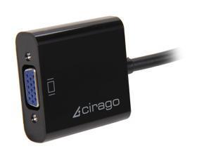 Cirago DPA1011 DisplayPort to VGA (HD15) Active Adapter