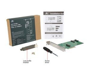 VANTEC UGT-M2PC200 M.2 NVMe + M.2 SATA SSD PCIe X4 Adapter
