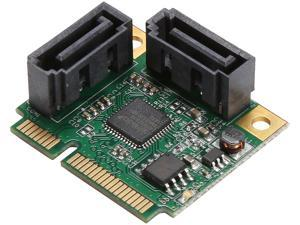 SYBA SI-MPE40095 Low Profile Ready SATA Mini PCI-Express Half Size 2 Port SATA III RAID Controller