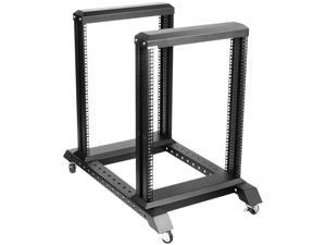 iStarUSA WO15AB 15U 4 Post Open Frame Rack