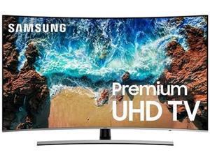 """Samsung NU8500 55"""" Curved 4K UHD HDR Plus Smart TV UN55NU8500FXZA"""