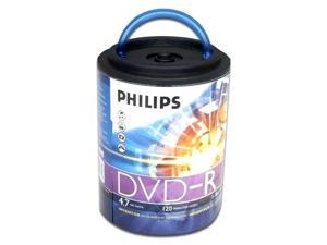 PHILIPS 4.7 GB 16X DVD-R Logo 100 Packs Spindle Disc with Handle Model DM4S6H00F/17