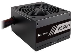 CORSAIR VS Series, VS650, 650 Watt (650W), Active PFC, 80 PLUS White Certified Power Supply