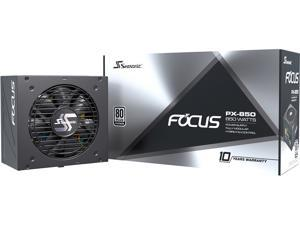 Seasonic FOCUS PX-850, 850W 80+ Platinum Full-Modular, Fan Control in Fanless, Silent, and Cooling Mode, 10 Year Warranty, Perfect Power Supply for Gaming and Various Application, SSR-850PX.