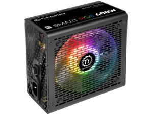 Thermaltake Smart RGB Series 600W SLI/CrossFire Ready Continuous Power ATX 12V V2.3 80 PLUS Certified 5 Year Warranty Active PFC Power Supply Haswell Ready PS-SPR-0600NHFAWU-1