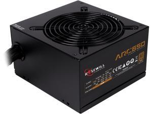 Rosewill ARC Series 650W Gaming Power Supply, 80 PLUS Bronze Certified, Single +12V Rail, Intel 4th Gen CPU Ready, SLI & CrossFire Ready - ARC-650