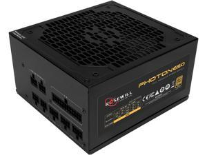 Rosewill PHOTON Series 650W Full Modular Gaming Power Supply, 80 PLUS Gold Certified, Single +12V Rail, Intel 4th Gen CPU Ready, SLI & Crossfire Ready - Photon-650