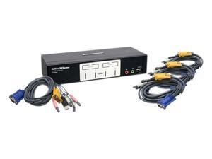 IOGEAR GCS1804 4 Port KVMP Switch with USB 2.0 Hub and Audio