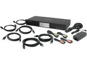IOGEAR GCS1942 2-Port 4K Dual View DisplayPort KVMP with USB 3.0 Hub and Audio (TAA)