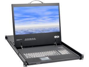 """Tripp Lite 1U Rack-Mount Console with 19"""" LCD, DVI or VGA, TAA (B021-000-19-HD)"""