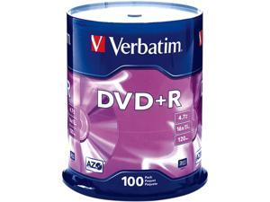 Verbatim 4.7 GB 16X DVD+R 100 Packs Disc Model 95098